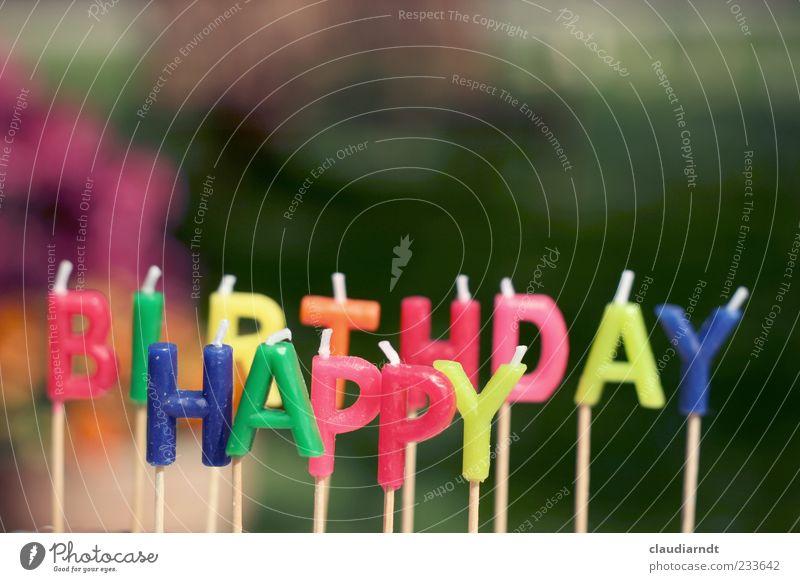 Hap.Bi. Feste & Feiern Geburtstag Schriftzeichen Fröhlichkeit mehrfarbig Freude Geburtstagswunsch Kerze Dekoration & Verzierung Wachs Glückwünsche
