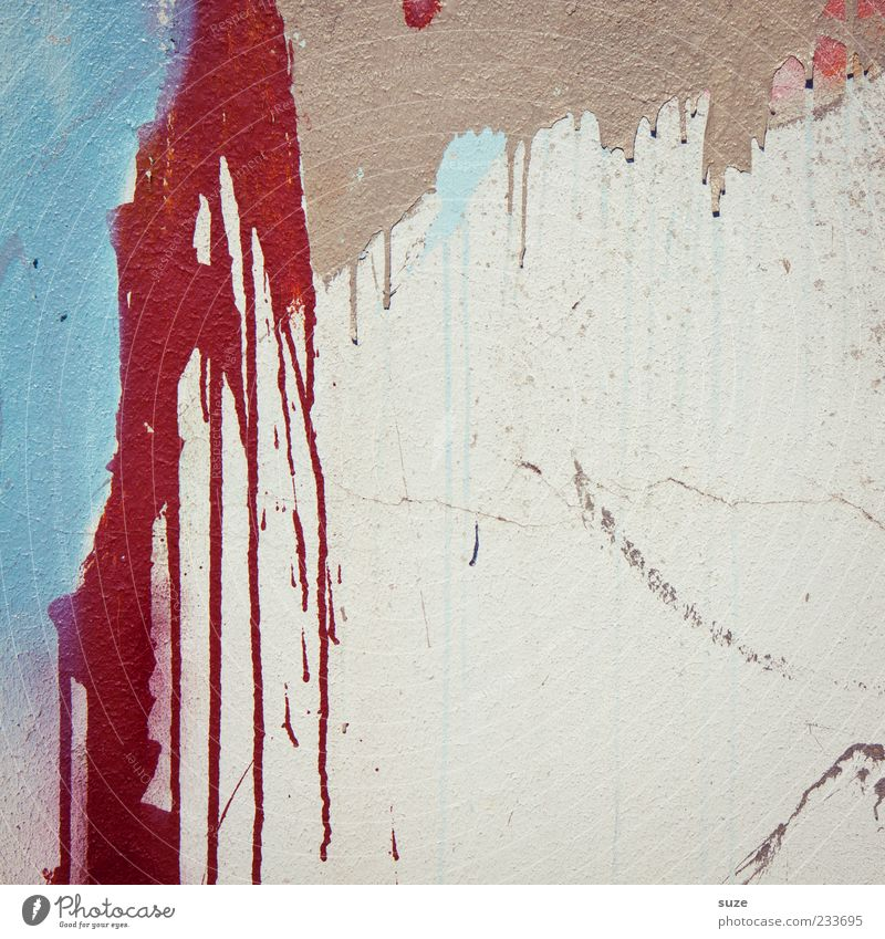 Blutspende rot Farbe Wand Graffiti Farbstoff Mauer Stil Hintergrundbild dreckig Fassade Design verrückt streichen trashig Straßenkunst Farbfleck
