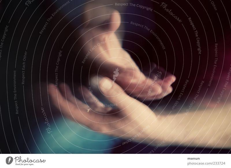 Hände Mensch maskulin Hand Finger Bewegung machen authentisch Gefühle Tatkraft Leben Surrealismus Körperteile Farbfoto Nahaufnahme abstrakt Textfreiraum links