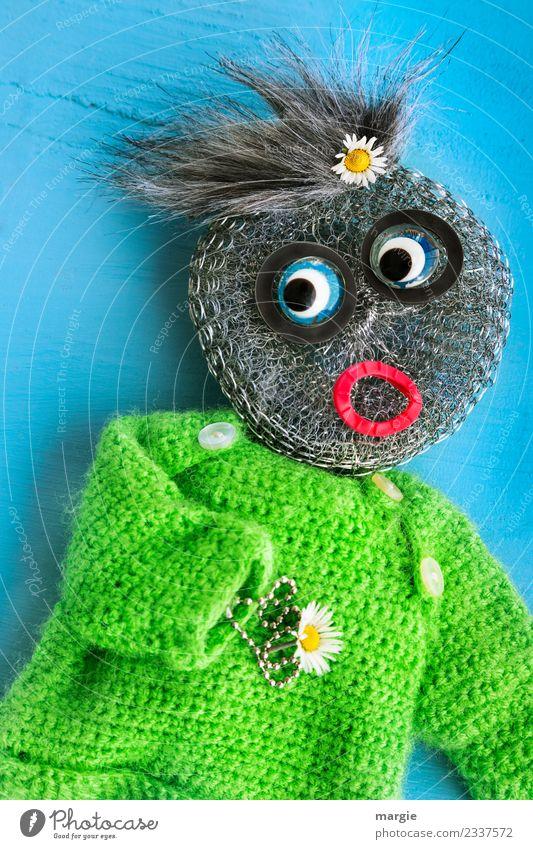 kreativ| Blumenkind Kind Mensch blau grün Mädchen feminin Junge Freizeit & Hobby maskulin Kleinkind Basteln androgyn