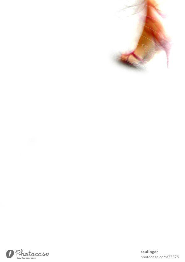 sole walk Sandale gehen Geschwindigkeit Stil Makroaufnahme Nahaufnahme Fuß heels laufen