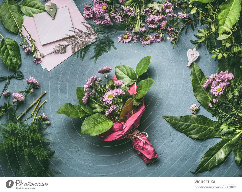 Blumenstrauß verpacken Schritt für Schritt 6 kaufen Stil Design Sommer Dekoration & Verzierung Tisch Veranstaltung Feste & Feiern Pflanze rosa Floristik
