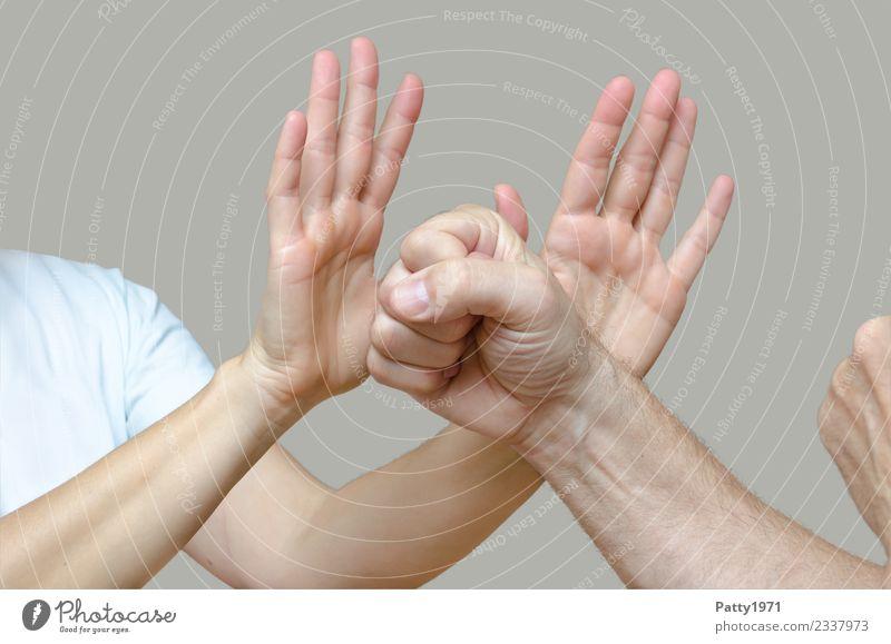 #NotMe Mensch maskulin feminin Frau Erwachsene Mann Arme Hand 2 18-30 Jahre Jugendliche 30-45 Jahre kämpfen Aggression bedrohlich selbstbewußt Kraft
