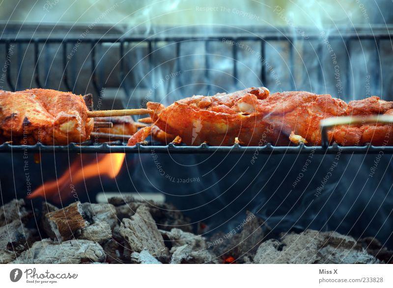 BBQ Lebensmittel Fleisch Kräuter & Gewürze Ernährung Abendessen Feste & Feiern Duft heiß lecker Rauch Grill Grillen Grillrost Grillkohle Grillsaison Hähnchen