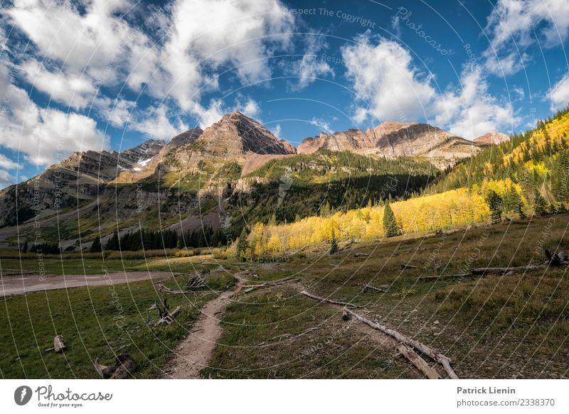 Maroon-Snowmass Wilderness in Colorado Himmel Ferien & Urlaub & Reisen Natur Sommer Landschaft Wolken Wald Ferne Berge u. Gebirge Umwelt Wege & Pfade Tourismus