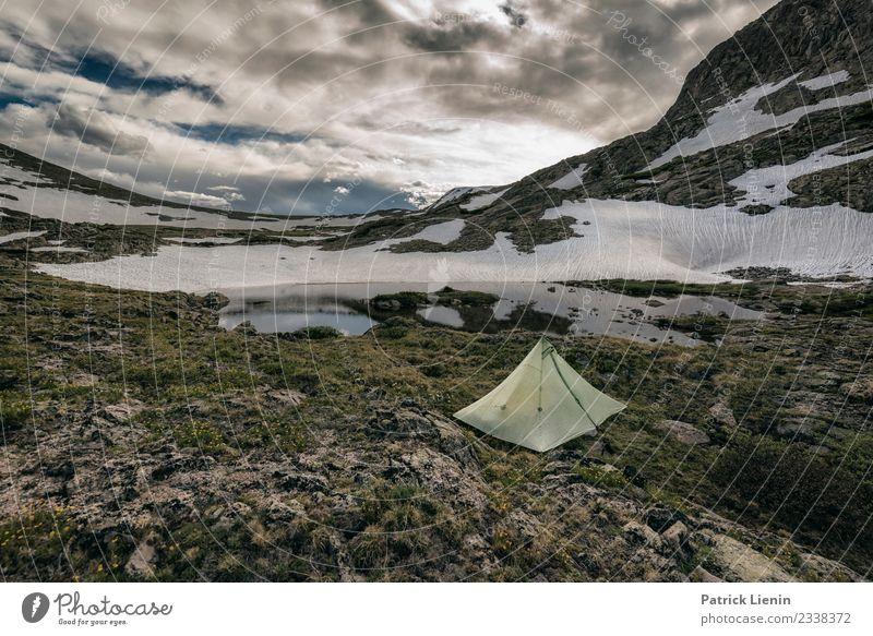 Backcountry camping Lifestyle Zufriedenheit Sinnesorgane Erholung ruhig Meditation Ferien & Urlaub & Reisen Tourismus Ausflug Abenteuer Ferne Freiheit Camping