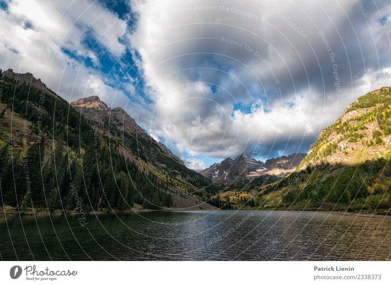 Maroon-Snowmass Wilderness in Colorado Himmel Ferien & Urlaub & Reisen Natur Sommer Landschaft Erholung Wolken ruhig Wald Berge u. Gebirge Umwelt Zufriedenheit