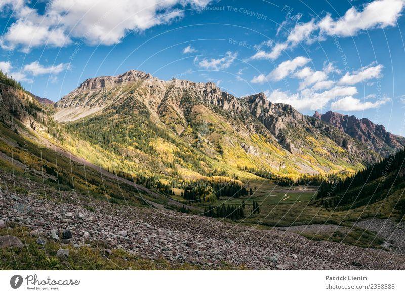 Maroon-Snowmass Wilderness in Colorado Himmel Ferien & Urlaub & Reisen Natur Sommer Landschaft Erholung Wolken ruhig Ferne Berge u. Gebirge Umwelt Freiheit
