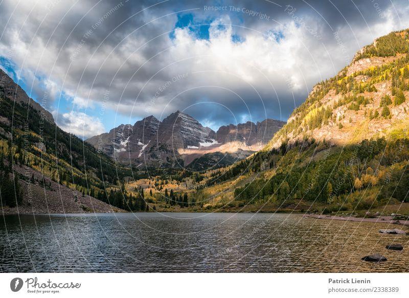 The Deadly Bells, Maroon-Bells Wilderness, Colorado Wohlgefühl Zufriedenheit Sinnesorgane Erholung ruhig Ferien & Urlaub & Reisen Ausflug Abenteuer Ferne