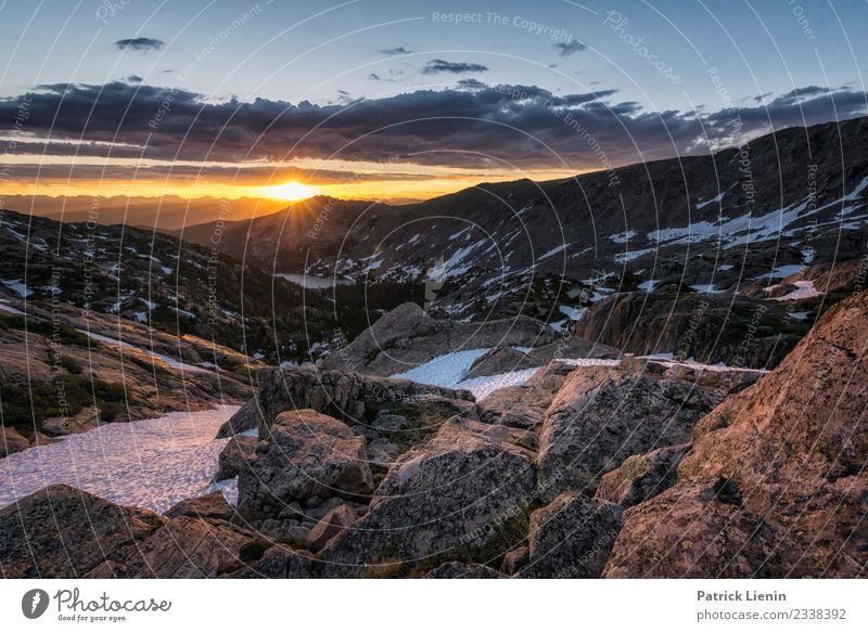 Sunrise over the Rockies Sinnesorgane Erholung ruhig Ferien & Urlaub & Reisen Ausflug Abenteuer Ferne Freiheit Sommer Berge u. Gebirge wandern Umwelt Natur