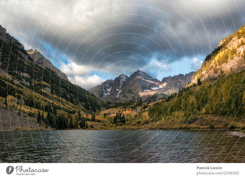Maroon Bells Wellness Zufriedenheit Sinnesorgane Erholung Ferien & Urlaub & Reisen Berge u. Gebirge wandern Umwelt Natur Landschaft Urelemente Himmel Wolken
