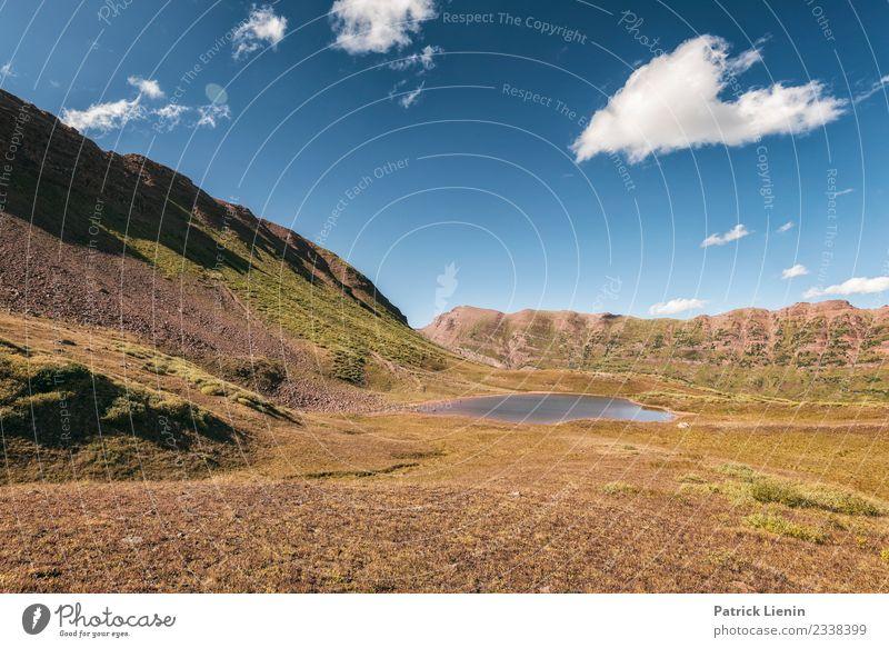 Maroon-Snowmass Wilderness in Colorado Himmel Ferien & Urlaub & Reisen Natur Sommer Landschaft Erholung Wolken ruhig Ferne Berge u. Gebirge Umwelt Freiheit See