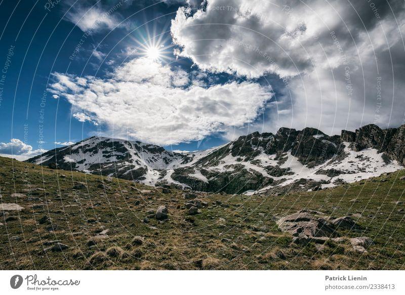 Holy Cross Wilderness, Colorado Himmel Ferien & Urlaub & Reisen Natur Sommer Landschaft Wolken Ferne Berge u. Gebirge Umwelt Schnee Tourismus Freiheit Ausflug