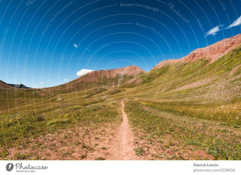 Maroon-Snowmass Wilderness in Colorado Himmel Ferien & Urlaub & Reisen Natur Sommer Landschaft Erholung ruhig Ferne Berge u. Gebirge Umwelt Wege & Pfade