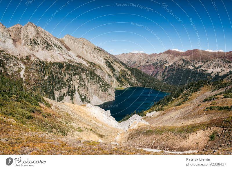 Snowmass Lake Wohlgefühl Zufriedenheit Sinnesorgane Erholung ruhig Ferien & Urlaub & Reisen Tourismus Ausflug Abenteuer Ferne wandern Umwelt Natur Landschaft