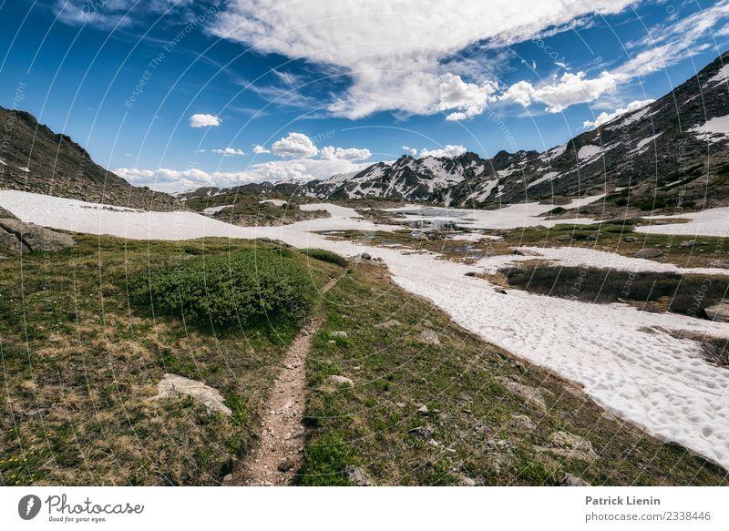 Holy Cross Wilderness, Colorado Himmel Ferien & Urlaub & Reisen Natur Sommer Landschaft Wolken Ferne Berge u. Gebirge Umwelt Frühling Wege & Pfade Schnee