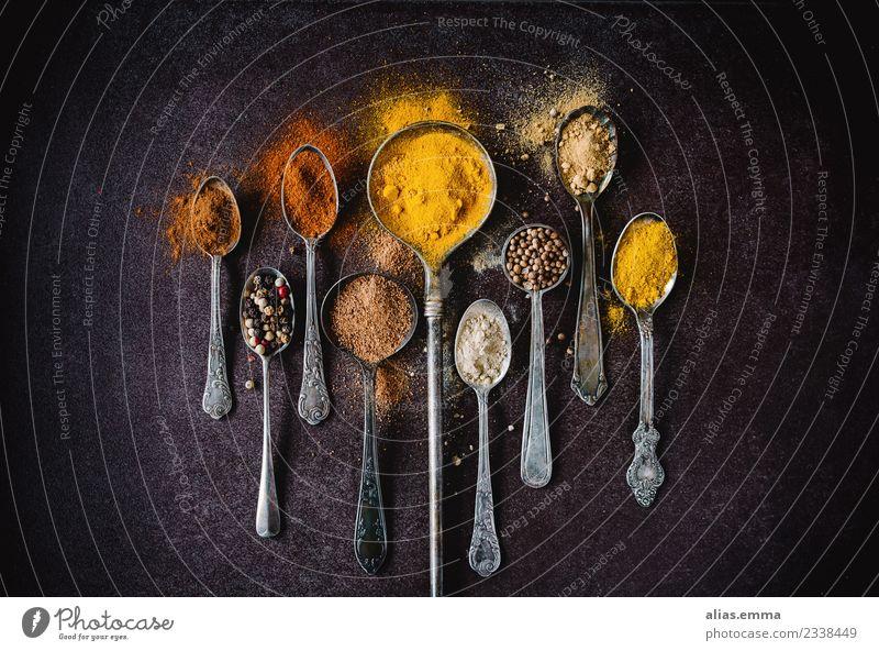 Farbrausch - Bunte Gewürze Kräuter & Gewürze exotisch Farbe mehrfarbig aromatisch Zimt Paprika Ingwer Kardamom Curry Curcuma Koriander Pfeffer Geschmackssinn