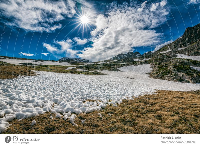 Schneereste Wellness Wohlgefühl Ferien & Urlaub & Reisen Tourismus Ausflug Abenteuer Ferne Freiheit Sommer Berge u. Gebirge wandern Umwelt Natur Landschaft