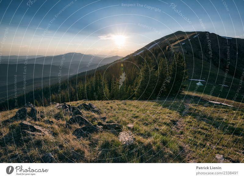 Letztes Licht harmonisch Wohlgefühl Ferien & Urlaub & Reisen Ausflug Abenteuer Ferne Freiheit Camping Sommer Berge u. Gebirge wandern Umwelt Natur Landschaft