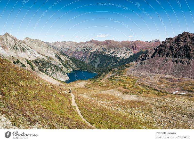 East Maroon Pass Ferien & Urlaub & Reisen Umwelt Natur Landschaft Urelemente Himmel Sommer Klima Klimawandel Wetter Schönes Wetter Berge u. Gebirge Gipfel