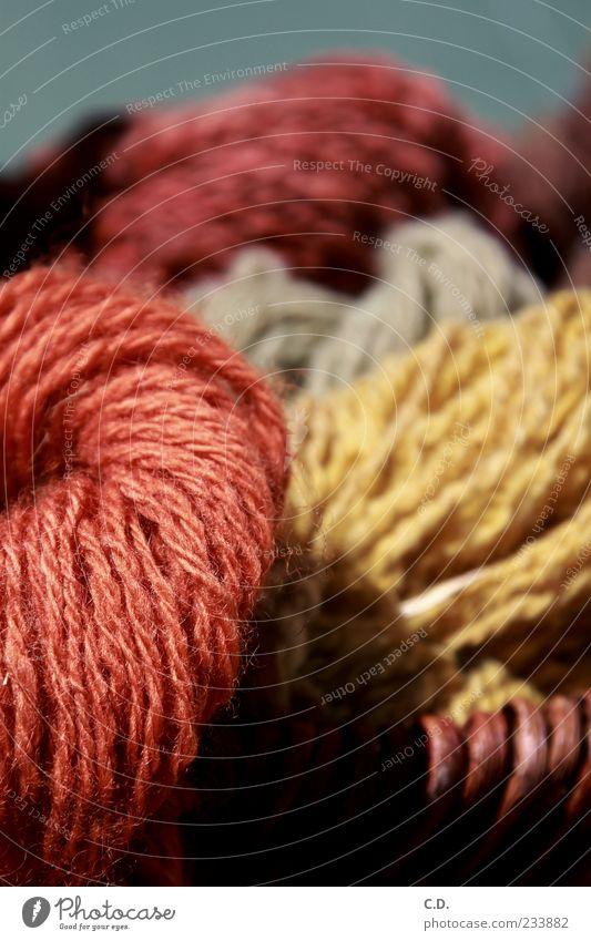 Wolle schön rot gelb natürlich weich kuschlig Korb Knäuel wollig Schafswolle Wollknäuel