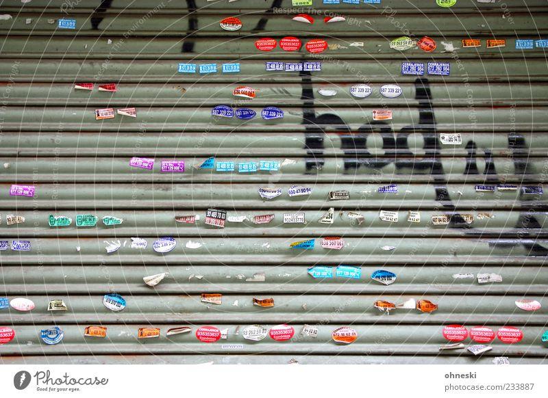 Reklame Jugendkultur Subkultur Jalousie Etikett Zeichen Schriftzeichen Schilder & Markierungen Graffiti Linie mehrfarbig Werbung Smiley Farbfoto Außenaufnahme