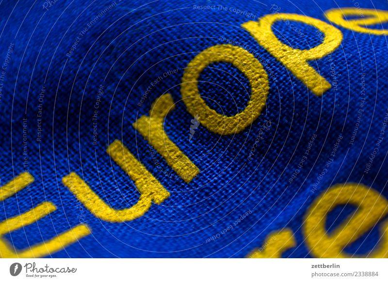 Europe Europa Europafahne Europa Parlament Fahne Stoff Wahrzeichen Bündnis Schriftzeichen Typographie Buchstaben