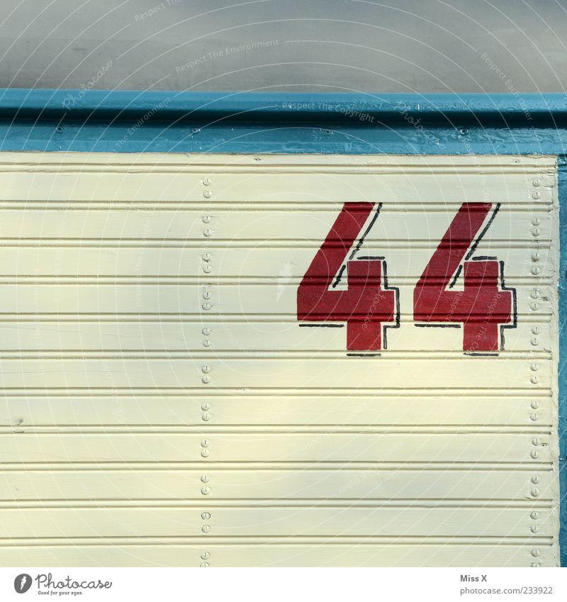 45 weiß blau rot Ziffern & Zahlen Zeichen Hausnummer Midlife Crisis