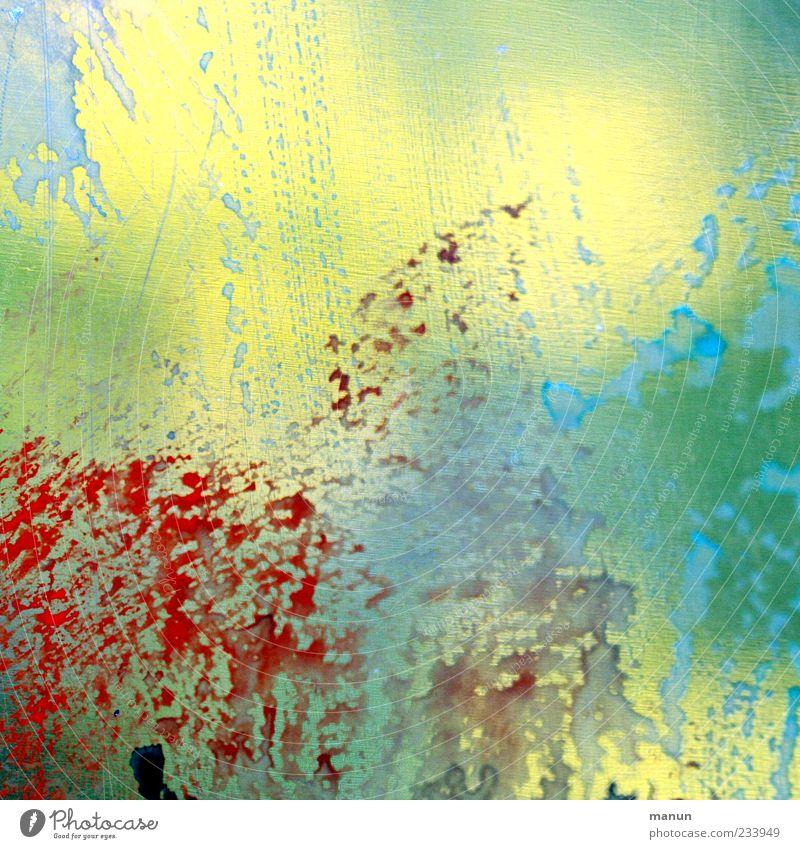 wet III blau rot gelb Farbe Farbstoff Linie Kunst Hintergrundbild Design modern Streifen Kreativität gemalt Farbfleck