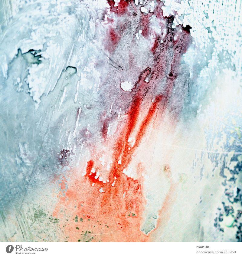 wet IV weiß blau rot Linie hell Kunst Design modern Tropfen Streifen Gemälde Kreativität gemalt Farbton Wasserfarbe