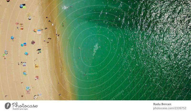 Mensch Natur Ferien & Urlaub & Reisen Sommer schön Landschaft Sonne Meer Strand Ferne Lifestyle Umwelt Küste Schwimmen & Baden Wellen Insel