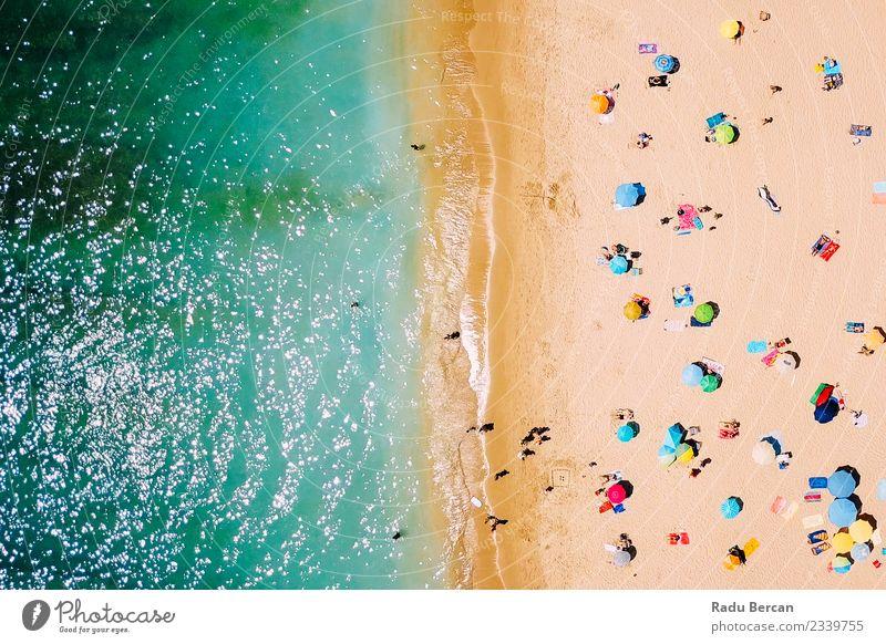 Mensch Natur Ferien & Urlaub & Reisen Sommer schön Landschaft Sonne Meer Strand Umwelt Küste Schwimmen & Baden Ausflug Wellen Insel Abenteuer