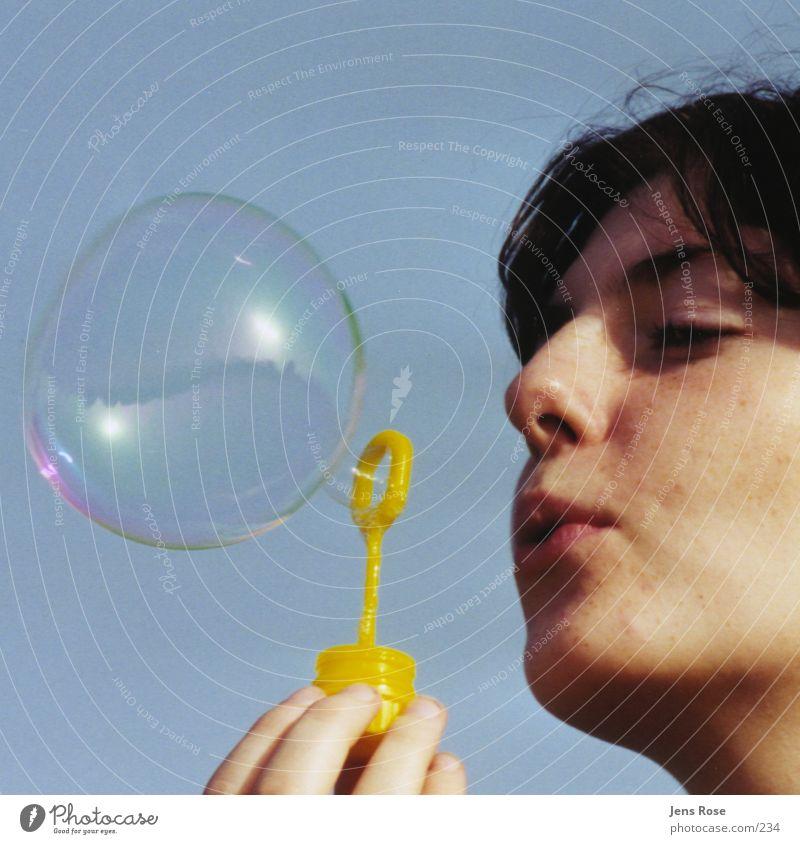 seifenblase Mensch Sommer Gesicht Seifenblase