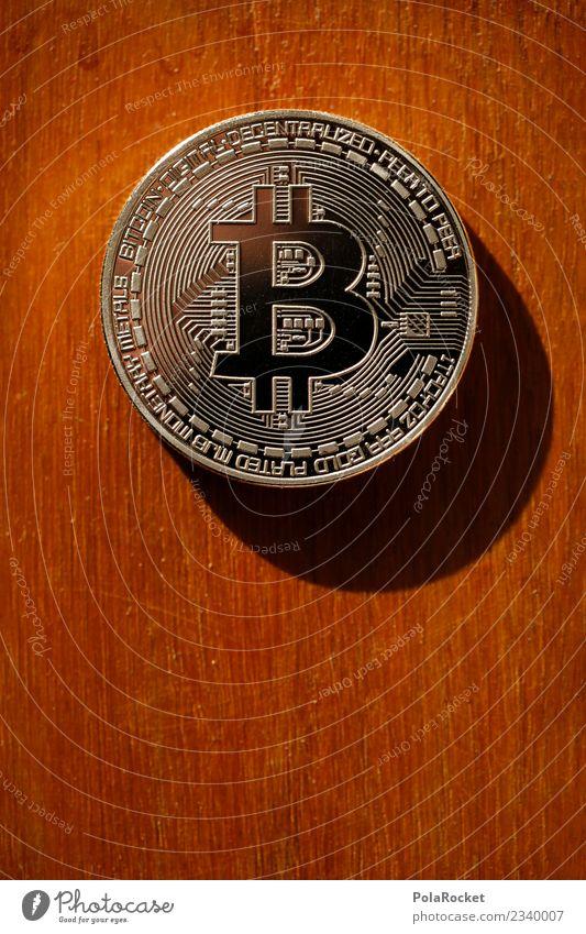 #A# Bitconos Kunst Kunstwerk ästhetisch Kryptowährung Geld Kapitalanlage Geldmünzen Wert Wertschätzung Farbfoto Gedeckte Farben Innenaufnahme Nahaufnahme