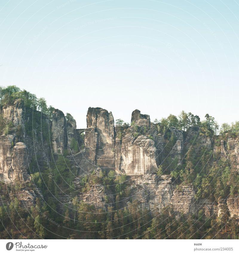 Sandstein Himmel Natur Ferien & Urlaub & Reisen Baum Umwelt Landschaft Berge u. Gebirge Frühling Freiheit Luft Felsen außergewöhnlich Tourismus Urelemente