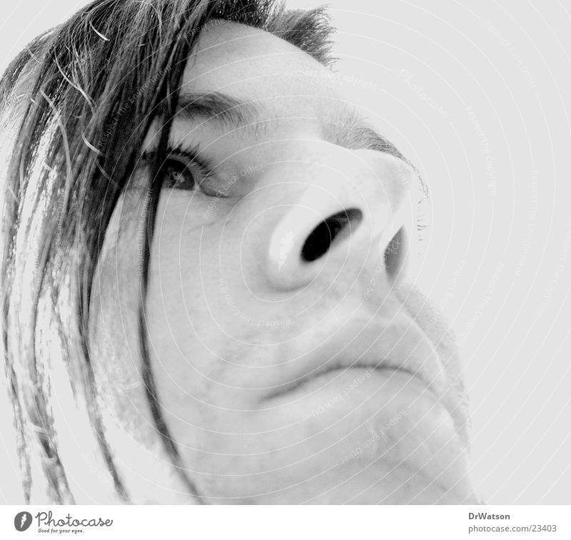 Staring at the sea Porträt Silhouette Denken träumen Mann Gesicht Schwarzweißfoto Profil Blick Traurigkeit