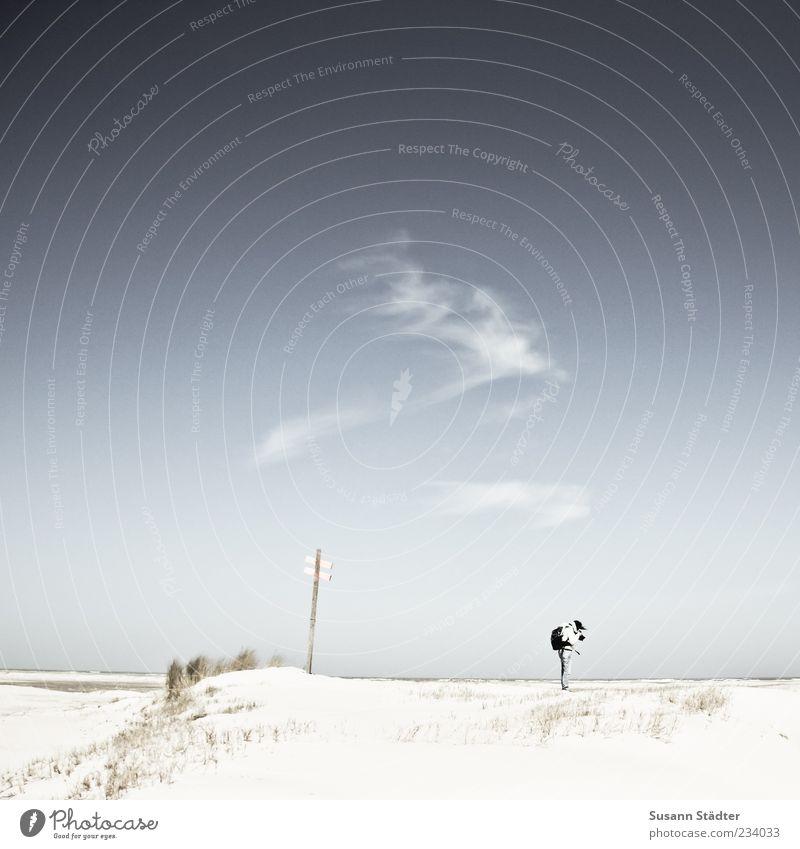 Spiekeroog | the Making of träumen Fotografieren Düne Dünengras Nordseeinsel Wolkenfetzen Ferne Unendlichkeit Gedeckte Farben Außenaufnahme Textfreiraum links