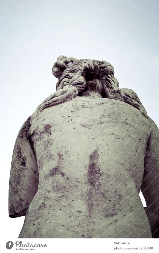 Ein schöner Rücken kann auch entzücken feminin 1 Mensch Kunst Kunstwerk Skulptur Statue Stuttgart Haare & Frisuren Stein alt blau grau gebeugt Rückansicht Rom