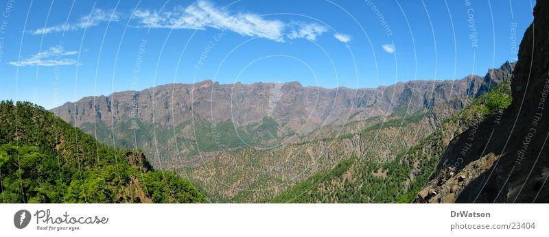 Caldera de Taburiente (2) La Palma Wald Schlucht Berge u. Gebirge Himmel La Cumbrecita Tal Felsen