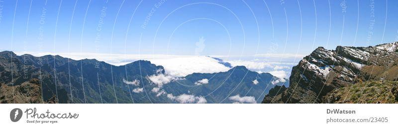 Caldera de Taburiente (1) Himmel Wolken Berge u. Gebirge groß Horizont Panorama (Bildformat) Kanaren La Palma Passatwolken