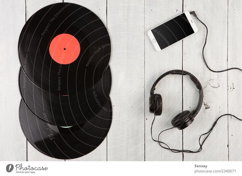 Jahrgangsrekord LP Teller Spielen Entertainment Musik Diskjockey PDA Computer Technik & Technologie Holz alt retro schwarz weiß Plattenteller Aufzeichnen
