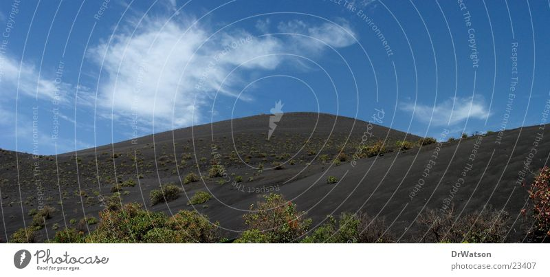 Lavasandberge schwarz Hügel La Palma Kanaren Berge u. Gebirge Sand Vulkan