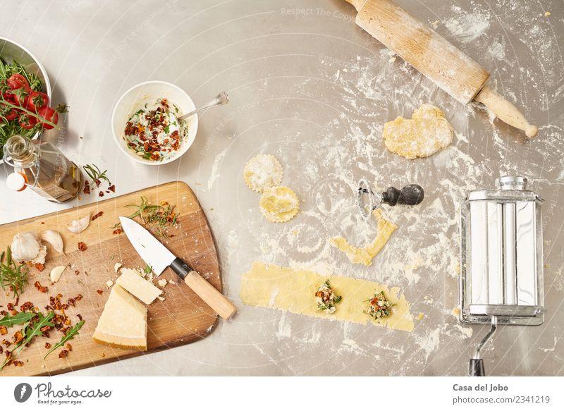frische und hausgemachte Nudeln Lebensmittel Käse Gemüse Teigwaren Backwaren Kräuter & Gewürze Mittagessen Abendessen Vegetarische Ernährung Diät Geschirr