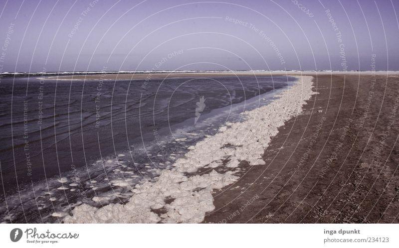 Weisses Band Ferien & Urlaub & Reisen Ferne Freiheit Umwelt Natur Landschaft Küste Strand Nordsee Meer Sand Sandstrand Wattenmeer Spiekeroog