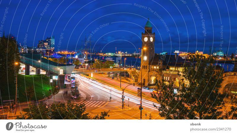 Hamburg am Abend Ferien & Urlaub & Reisen Stadt Deutschland Skyline Großstadt