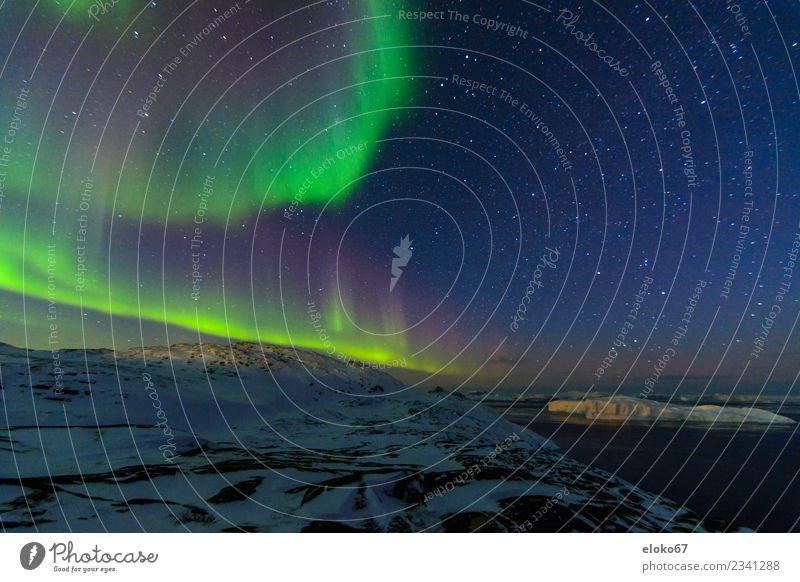 Aurora Borealis bei Ilulissat Ferne Freiheit hell Abenteuer beobachten Nordlicht