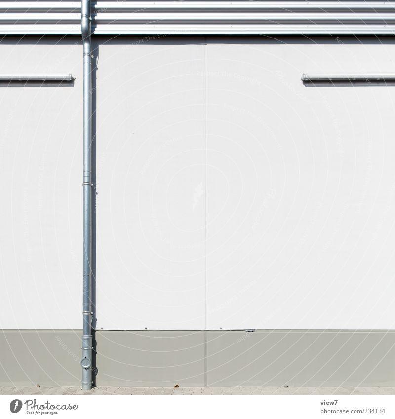 pipe :: weiß Haus Ferne kalt Wand Architektur grau Mauer Stein Gebäude Metall Linie Hintergrundbild Fassade Beton Ordnung