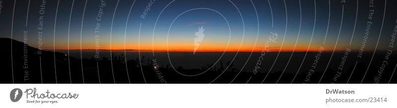 End of the day Sonnenuntergang Meer Horizont Stimmung Panorama (Aussicht) Abenddämmerung Himmel groß Panorama (Bildformat)
