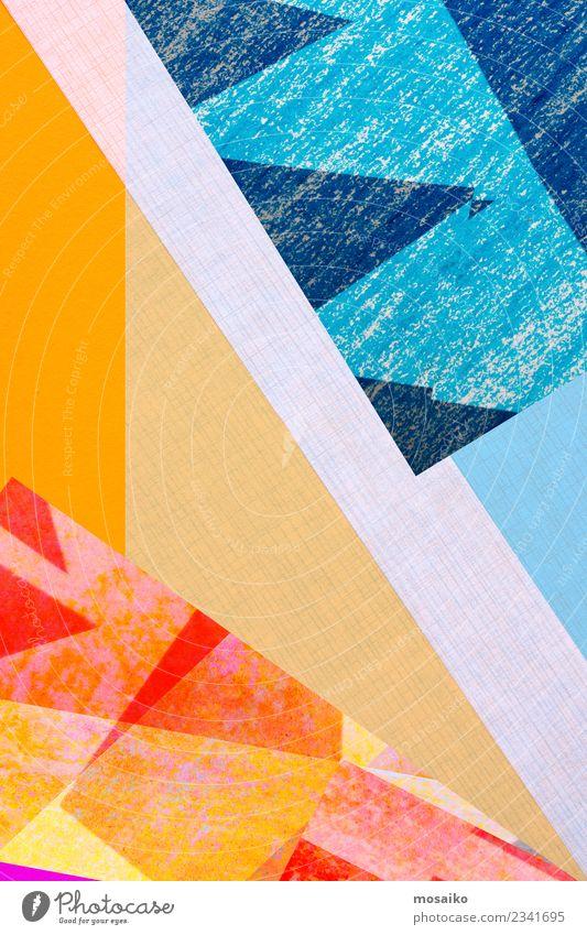 Geometrische Formen blau Farbe Freude Stil Kunst Mode Party Feste & Feiern orange Design ästhetisch Kultur Kreativität Perspektive Idee Grafik u. Illustration