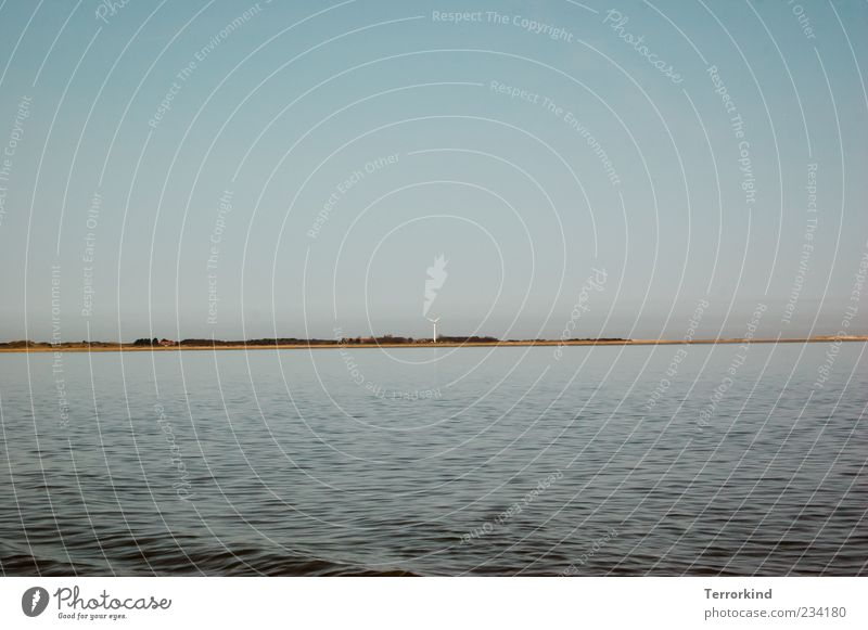 Spiekeroog | ichbinimmerganzweitweg Himmel Wasser Sommer Meer Strand Wolken Ferne Sand Horizont Wellen Windkraftanlage Wasseroberfläche Erneuerbare Energie